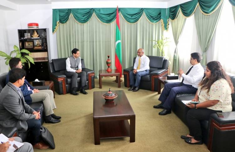 Foreign Minister meets delegation from BCCI