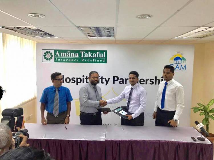 Guesthouse Association of Maldives signed partnership agreement with Amana Takaful Insurance today