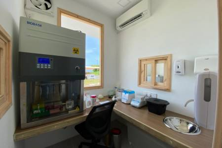 COVID-19 testing lab set up at Maafaru airport