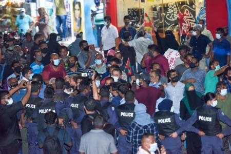 Police arrest 2 in violent opposition protests