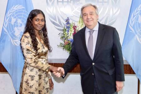PR Thilmeeza presents credentials to UN Secretary General