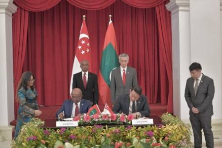 Maldives, Singapore sign two MOUs