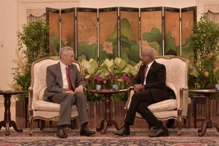 President Solih's trip to Singapore: meetings held with top officials, MoUs signed