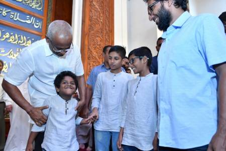 President Solih attends Eid prayers