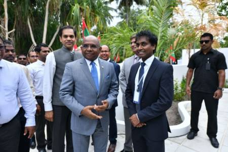 Foreign Minister inaugurates Ukulhas Convention Centre