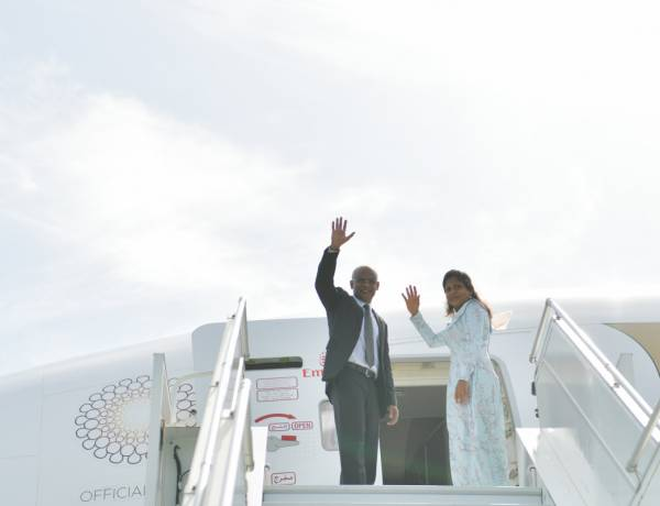 President and First Lady depart to Sri Lanka